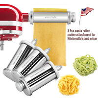PRO Pasta Roller Cutter Maker 3-piece Stand Mixer Attachment Set For KitchenAid
