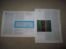 Infinity RS-7 Kappa Haut Parleur Review, 2 Pgs ,1987,Lunettes
