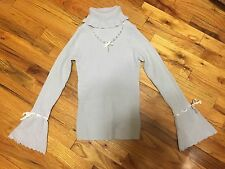 Liz Lisa Baby Blue Pearl Turtleneck Sweater One Size Japan