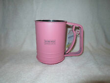NEW POWDER PINK The Great British Bake Off FLOUR SIFTER