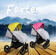 Foxter Silla de Paseo Bebé desde Nacimiento,Delantal Lavable,Plegable