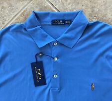 Polo Ralph Lauren Soft Touch Cotton Interlock Shirt Mens XL Blue wMulti Pony NWT