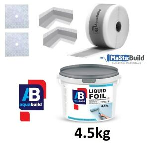 Waterproof Tanking Kit Shower Bathroom Sealing Set 4.5kg Liquid Membrane Aqua