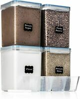EXTRA LARGE WIDE & DEEP Food Storage Airtight Containers [Set of 4] 5.2L $39.99