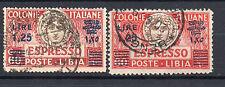 FRANCOBOLLI 1927/36 LIBIA L. 1,25 SU 60 CENTESIMI D/9858