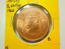 B: Jersey 1/2 Shilling coin (1966)  - UNC/BU