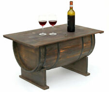 Mesita Baja Barril 5084 Mesa de Madera Botellero para Vino 80 CM Auxiliar BAR