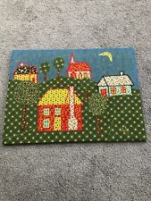 Vintage Hand Crafted PATCHWORK PICTURE