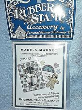 Make-A-Magnet w/ Rubber Stamps