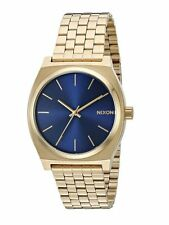 New Nixon Timeteller Blue Dial Gold-Tone Stainless Steel Men's Watch A0451931