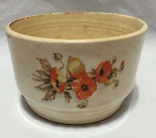 Vintage Knowles Utility Ware Bowl Orange Yellow Poppies Flowers 42-1 USA