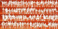 Train Staff and Passenger 120 Unpainted Figures Preiser 16325 HO Gauge (16,5 mm)