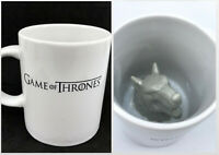 Coffee Mug Game of Thrones Surprise Stark Direwolf Inside Winter is Coming 2014