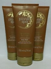 Avon Planet Spa Pampering Chocolate Body Wash w/ Cocoa Extract (Lot of 3) NEW