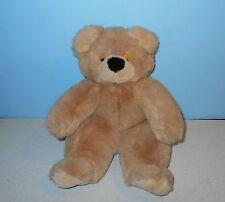 "14"" Pudgy Big Nose Teddy Bear Sleepy Closed Eyes Stuffed Plush by Golden Bear Co"