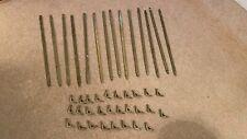 Victorian brass stair rods - 14no. with 28 brackets
