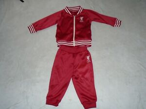 LIVERPOOL FOOTBALL RETRO SHANKLY TRACKSUIT JACKET BOTTOMS SIZE 9/12 MONTHS BABY