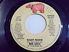 Bee Gees Night Fever / Down The Road 45 1977 RSO Vinyl Record
