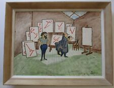 SOPKO ? EXHIBITION PAINTING ABSTRACT EXPRESSIONISM CUBIST MODERNISM RUSSIAN?