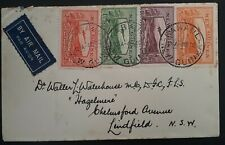 RARE 1940 New Guinea Airmail Cover ties 4 stamps cancelled Rabaul
