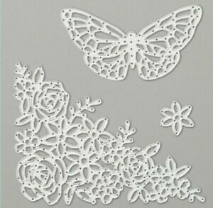 Stampin Up Springtime Impressions Thinlits Dies Flowers Butterfly *Brand New*