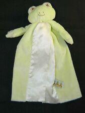 Bunnies by the Bay Tadbit Bye Bye Buddy Green Frog Security Blanket Lovey
