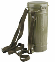 WWII GERMAN INFANTRY GAS MASK CANISTER CONTAINER AND STRAP