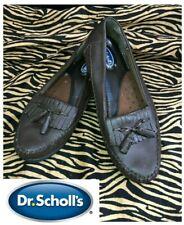 ca8c1d7b31b Dr. Scholls Leather Double Air-Pillo Moccasin Kiltie Tassel Loafers BROWN 6W  E23