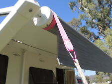 PINK Caravan / RV Awning Tie Down Straps. SUPPORT BREAST CANCER RESEARCH