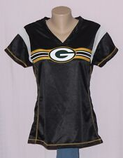 Green Bay Packers Womens Primary Logo Jersey T-Shirt Black M - NFL
