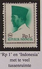 Indonesia - Stamp Soekarno with ERROR strong shifted print MH