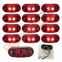 """Red Surface Mount LEDClearance Marker Light12 Pack 2.6/"""" x 1/"""" Clear"""
