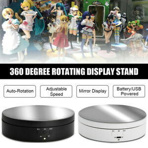 Electric Rotating Display Stand 3-Speed 360° Turntable Craft Mirror Show Holder