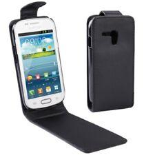 Samsung Galaxy S3 Mini i8190 Case Handytasche Flip Ledertasche Schwarz