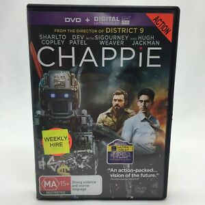 Chappie (DVD, 2015) Regions 2,4&5 With Hugh Jackman In Very Good Condition
