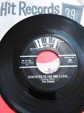 """The Chords 45rpm """"Hit Records"""" Dedicated to the One I Love RARE DooWop EX"""