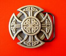 2000 Celtic Cross Pewter Belt Buckle