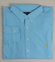 Ralph Lauren Polo Pony Classic Fit Long Slevs Gingham Plaid Dress Shirt Big Tall