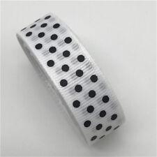 "5yards 5/8"" 15mm Polka Dots Grosgrain Ribbon Bow Wedding Christmas Decoration"