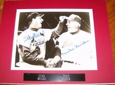 STAN MUSIAL & DUKE SNIDER Signed 8x10 Baseball Photo with a JSA COA Matted