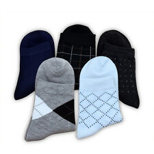 5 Pairs Mens Business Socks Fashion Sport Socks Cotton Extend Version 8.3 in