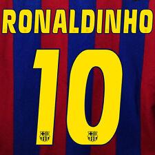 RONALDINHO #10 BARCELONA NUMERO HOME KIT NAME SET PRINTING 2005-2006