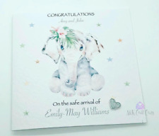 New Born Baby Girl Card Handmade & Personalised| Congratulations| Baby Gifts