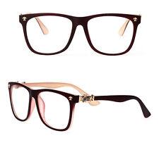 Vintage Retro Women Eyeglasses Frames Full Eyewear Glasses RX Clear Lenses Red