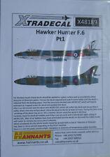 XTRADECAL 1/48 X48189 Hawker Hunter F.6 PT 1 fogli di Decalcomania