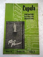 Revista Cupula num.122,Dic.1959,Construccion,Decoracion,Arquitectura