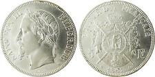NAPOLEONE III 5 FRANCHI ARGENTO TESTA LAUREATA 1867 BB STRASBURGO,CONSERVAZIONE