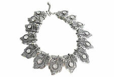 Vintage 1950s Signed Napier Rhinestone Leaves Runway Bridal Couture Necklace