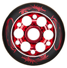 2 - 100mm x 88a YAK Exotic Metalcore Scooter Wheels, 2 wheels with bearings