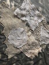 Vintage Lot Of Handmade Doilies Matts Crochet Craft